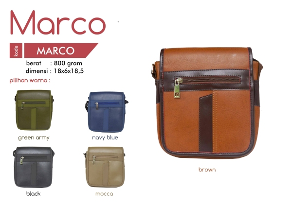 Tas Selempang Cowo MARCO Model Simple